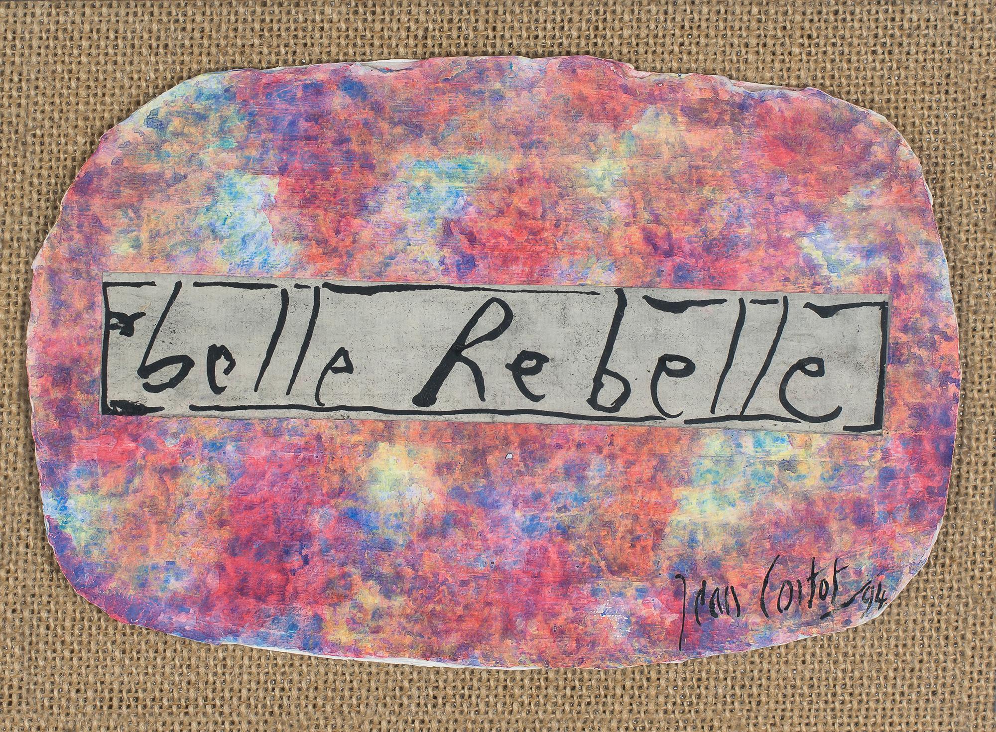jean cortot - collage cardboard belle rebelle 1994