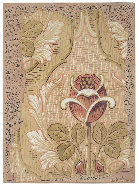 jean cortot - collage encre les fleurs du papier 1984 newsletterart comes to you 20