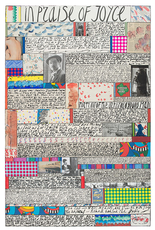 jean cortot - collage in praise of joyce 1997 2001