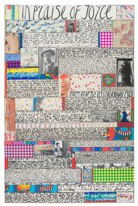 jean cortot - collage painting in praise of joyce 1997 2001