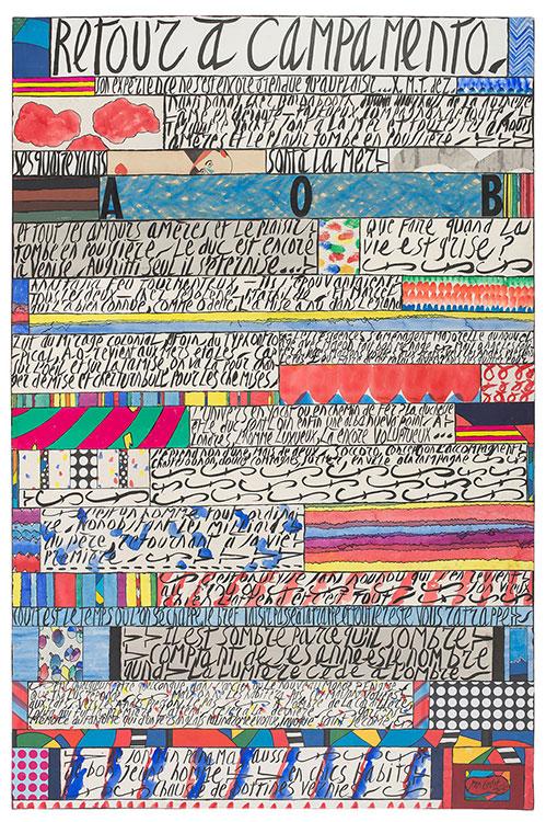 jean cortot - collage painting retour a campamento 2001 2002