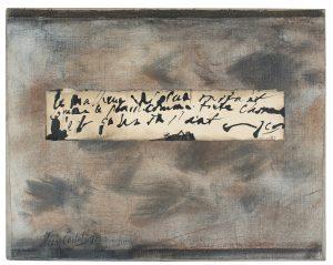jean cortot - collage panneau ecrit 1985 newsletter art comes to you 20