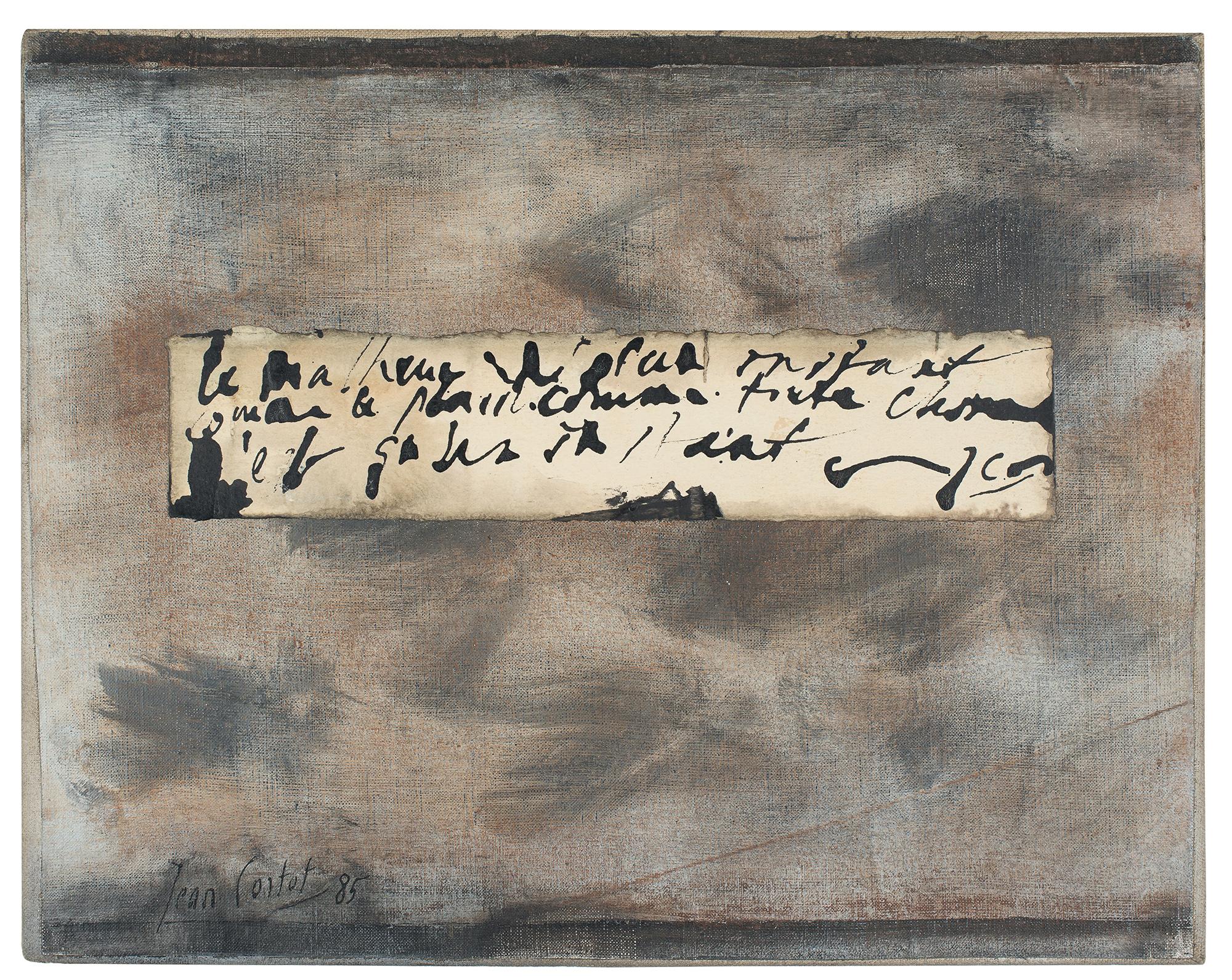 jean cortot - collage panneau ecrit 1985
