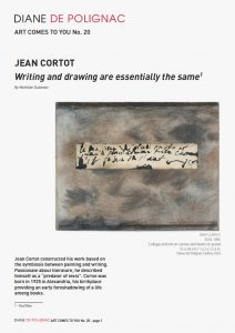 jean cortot - newsletter art comes to you 20 cover