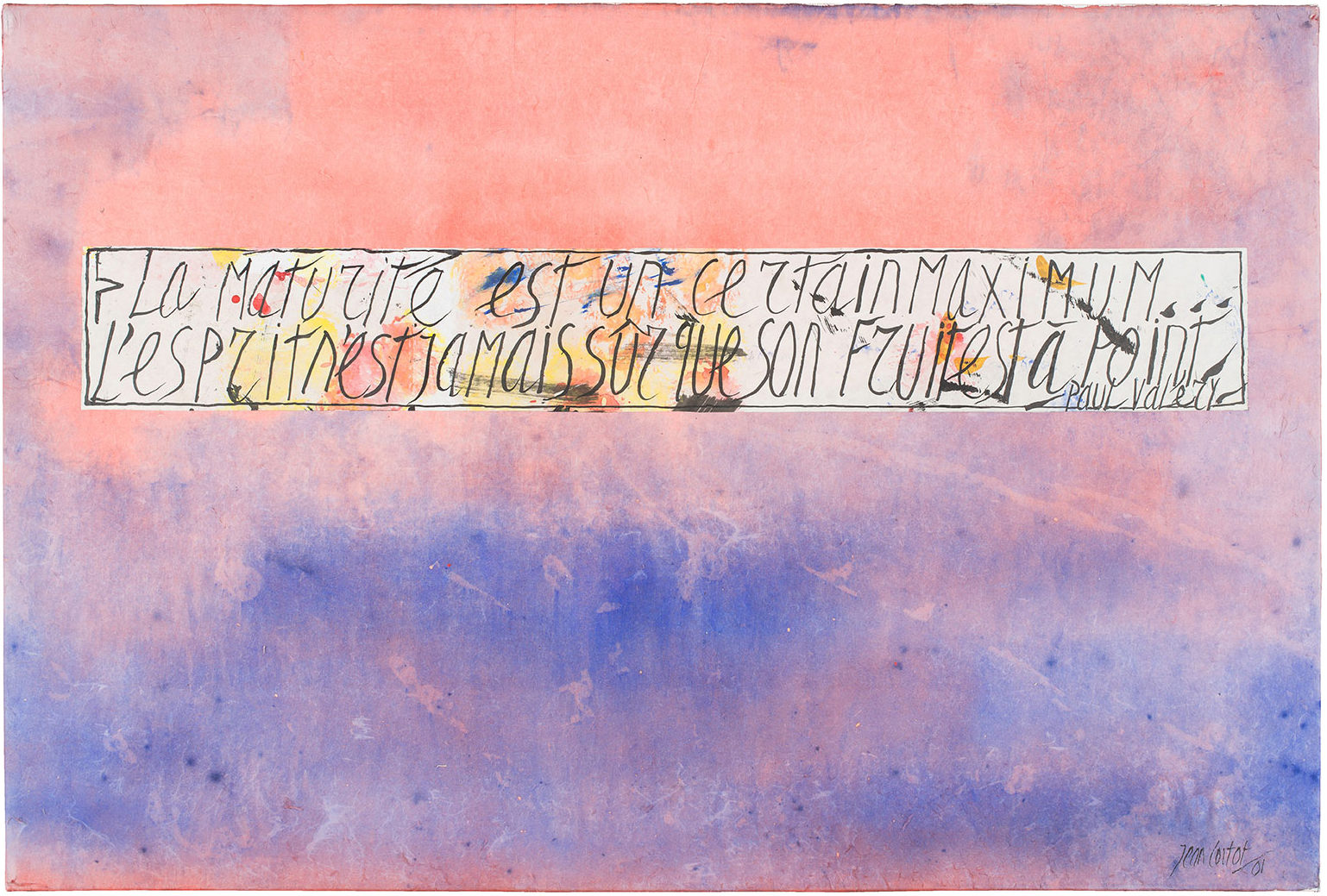 jean cortot - painting la maturite est un certain l esprit n est jamais sur que son fruit est a point 2001