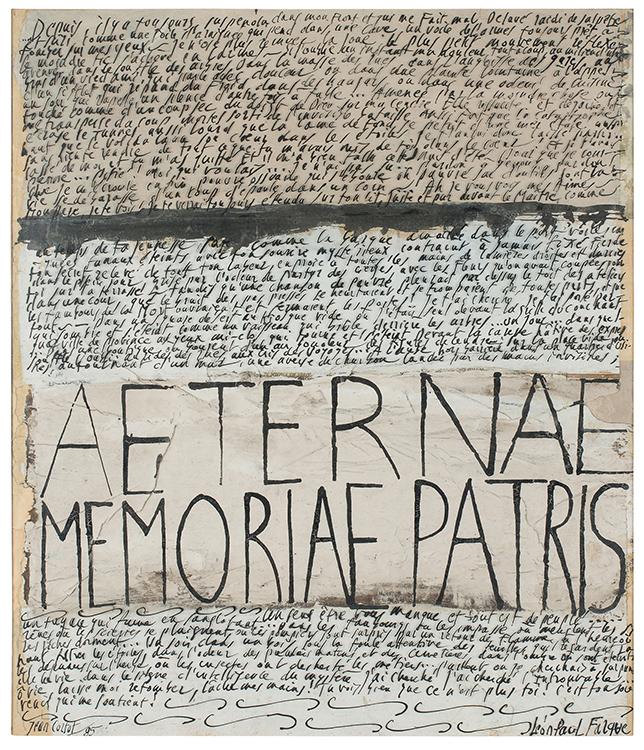 jean cortot - paper aeternae memoriabe patris 1985
