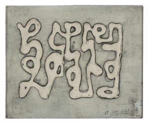 jean cortot - toile ecriture 1969