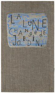 jean cortot - toile la lune change de jardin 1983