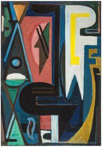 gerard schneider - opus 271 1945 painting